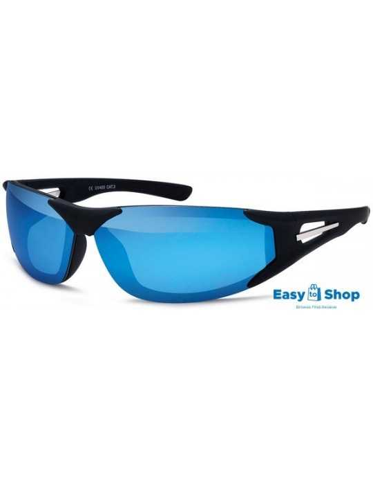 Sports sunglasses mirrored blue