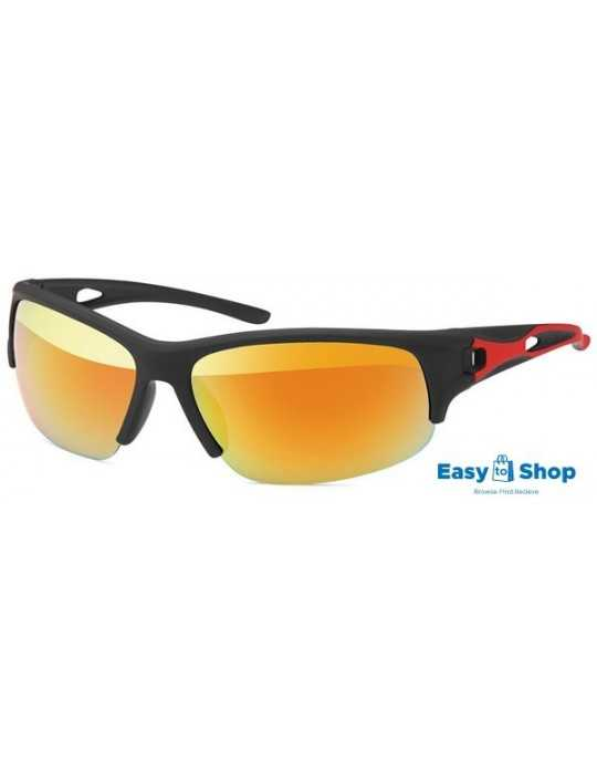 Sports sunglasses revo mirrored red