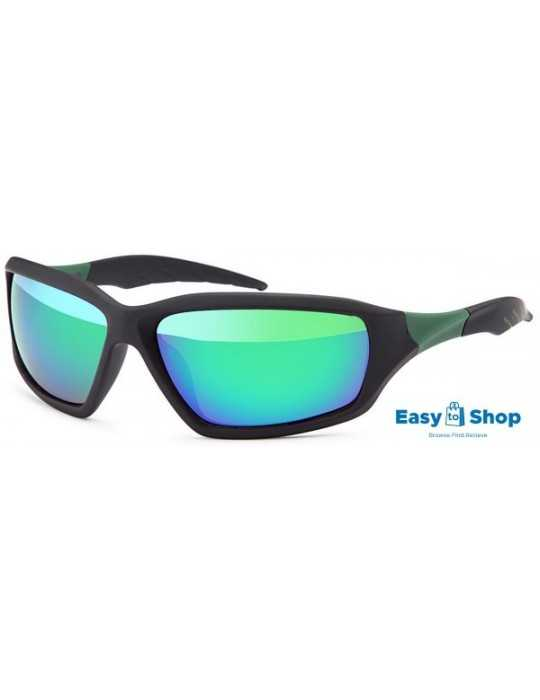 Sports sunglasses revo mirrored polycarbonat green